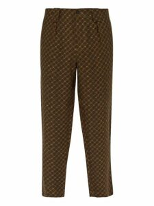 Etro - Jacquard Linen Trousers - Mens - Green Multi