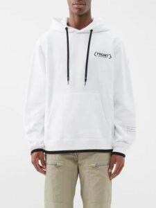 Valentino - Logo Print Hooded Sweatshirt - Mens - Black