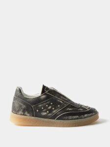 Prada - Logo Print Cotton Sweatshirt - Mens - Black Multi
