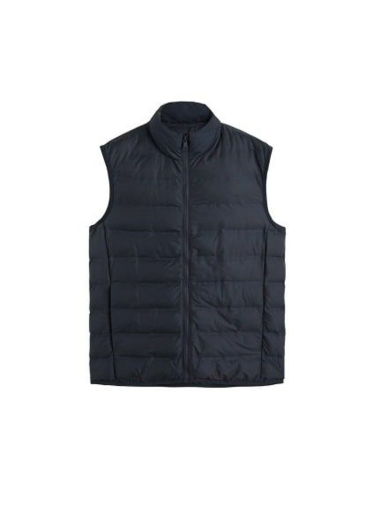 Technical quilted gilet