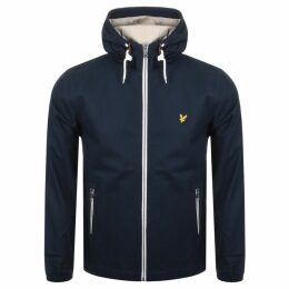 Lyle And Scott Full Zip Hooded Twill Jacket Navy