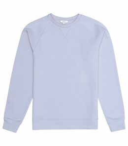 Reiss Ace - Garment Dyed Sweatshirt in Soft Blue, Mens, Size XXL