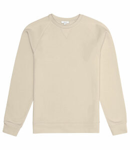 Reiss Ace - Garment Dyed Sweatshirt in Sand, Mens, Size XXL