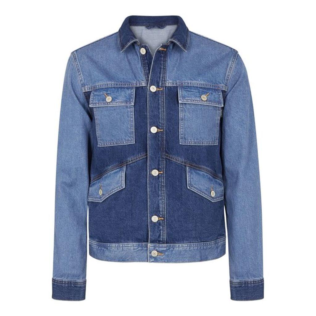 PS By Paul Smith Tonal Blue Oversized Denim Jacket