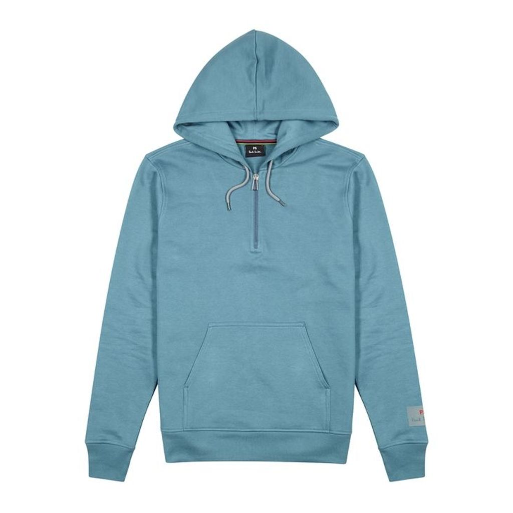PS By Paul Smith Blue Hooded Cotton Sweatshirt
