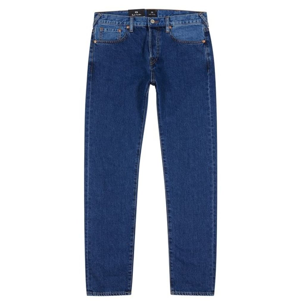 PS By Paul Smith Slim Standard Tonal Blue Jeans