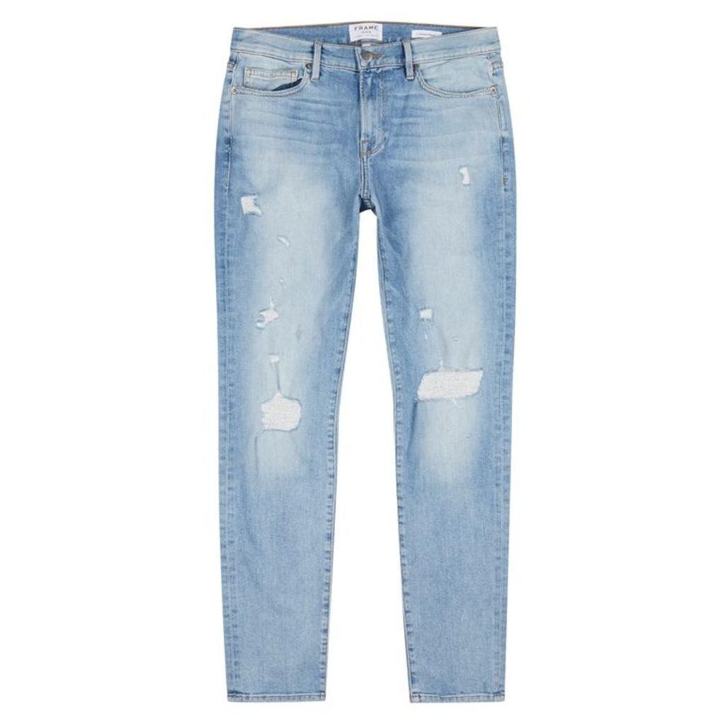 Frame Denim L'Homme Light Blue Skinny Jeans