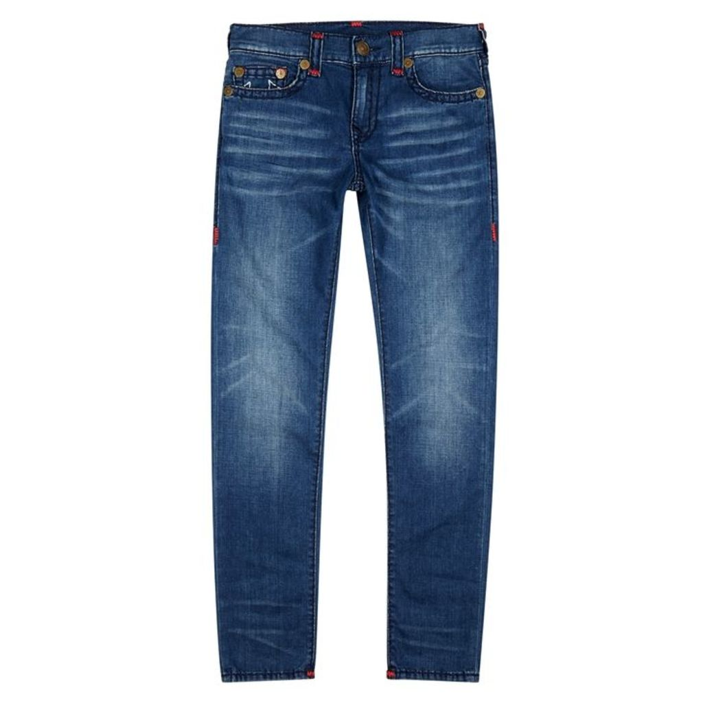 True Religion Rocco Super T Dark Blue Slim-leg Jeans