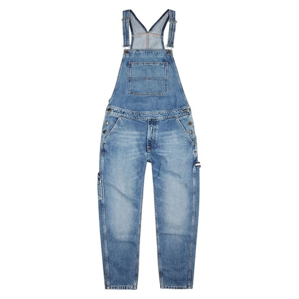 Tommy Jeans Blue Denim Dungarees