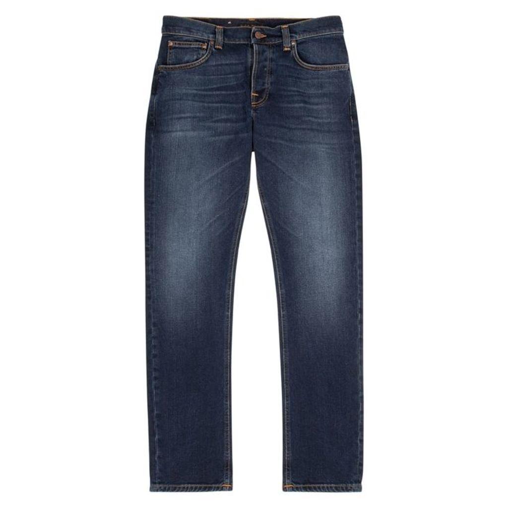 Nudie Jeans Grim Tim Dark Blue Slim-leg Jeans