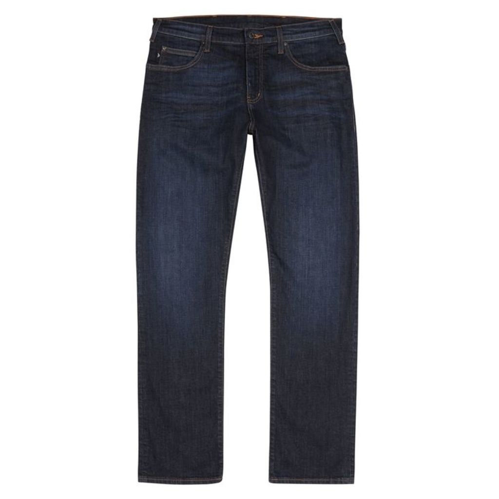 Emporio Armani Dark Blue Regular-fit Jeans