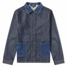 A.P.C. Mathis Denim Chore Jacket Indigo Delave
