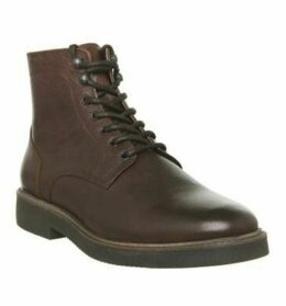 Office Immaculate Lace Boot TAN LEATHER