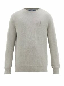 Polo Ralph Lauren - Logo Embroidered Cotton Sweater - Mens - Grey