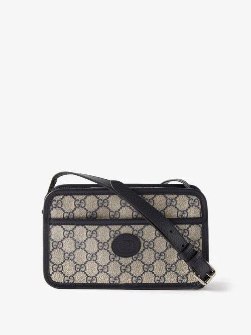 Giorgio Armani - Jacquard Pattern Crew Neck Sweater - Mens - Beige