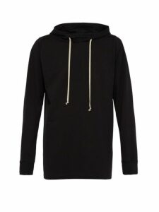 Rick Owens - Longline Cotton Hooded Sweatshirt - Mens - Black