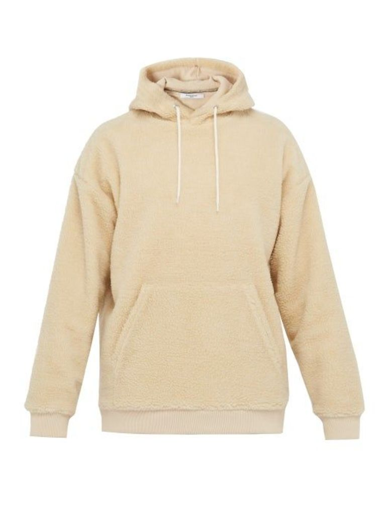 Givenchy - Logo Embroidered Fleece Hooded Sweatshirt - Mens - Beige
