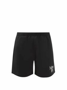 Gucci - Logo Patch Skinny Fit Coated Denim Jeans - Mens - Black