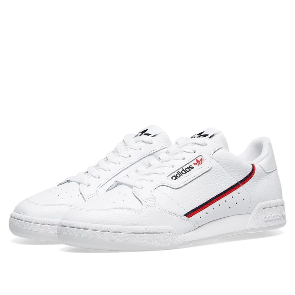 Adidas Continental 80 White, Scarlet & Collegiate