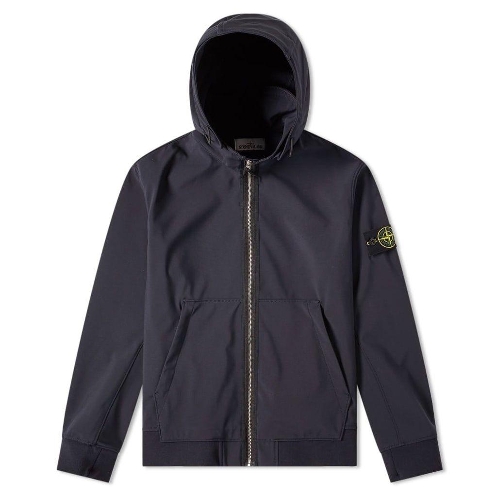 Stone Island Soft Shell R Fixed Hood Jacket Navy