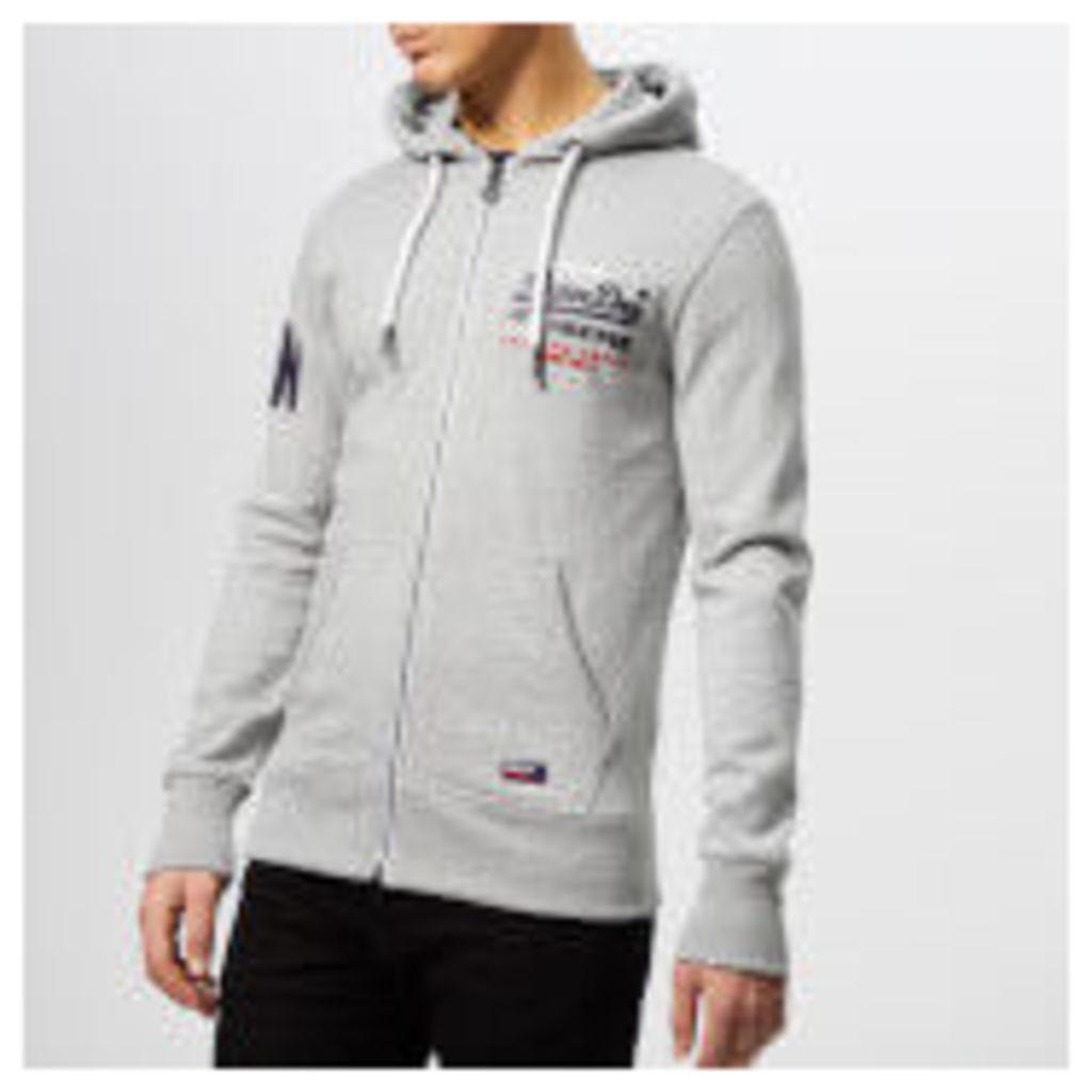Superdry Men's Premium Gds Tri Lite Zip Hoody - Varsity Grey Grit - XXL - Grey