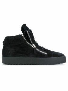 Giuseppe Zanotti Kriss shearling lined sneakers - Black