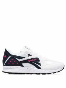 Reebok Pyro blue and pink detail sneakers - White