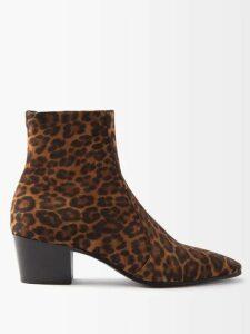Balmain - Biker Style Cotton Blend Cargo Trousers - Mens - Black
