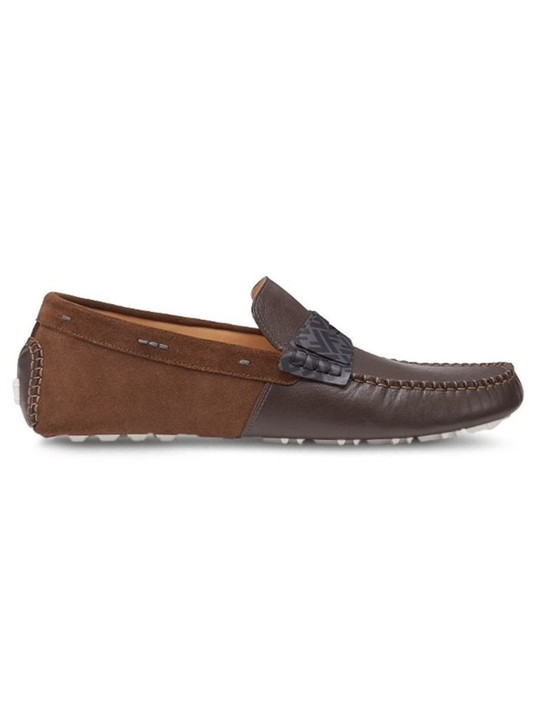 Fendi driving loafers - Brown