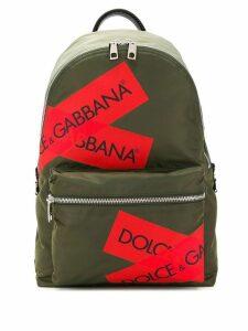 Dolce & Gabbana logo packpack - Green