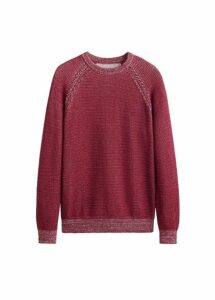 Flecked contrasting knit sweater