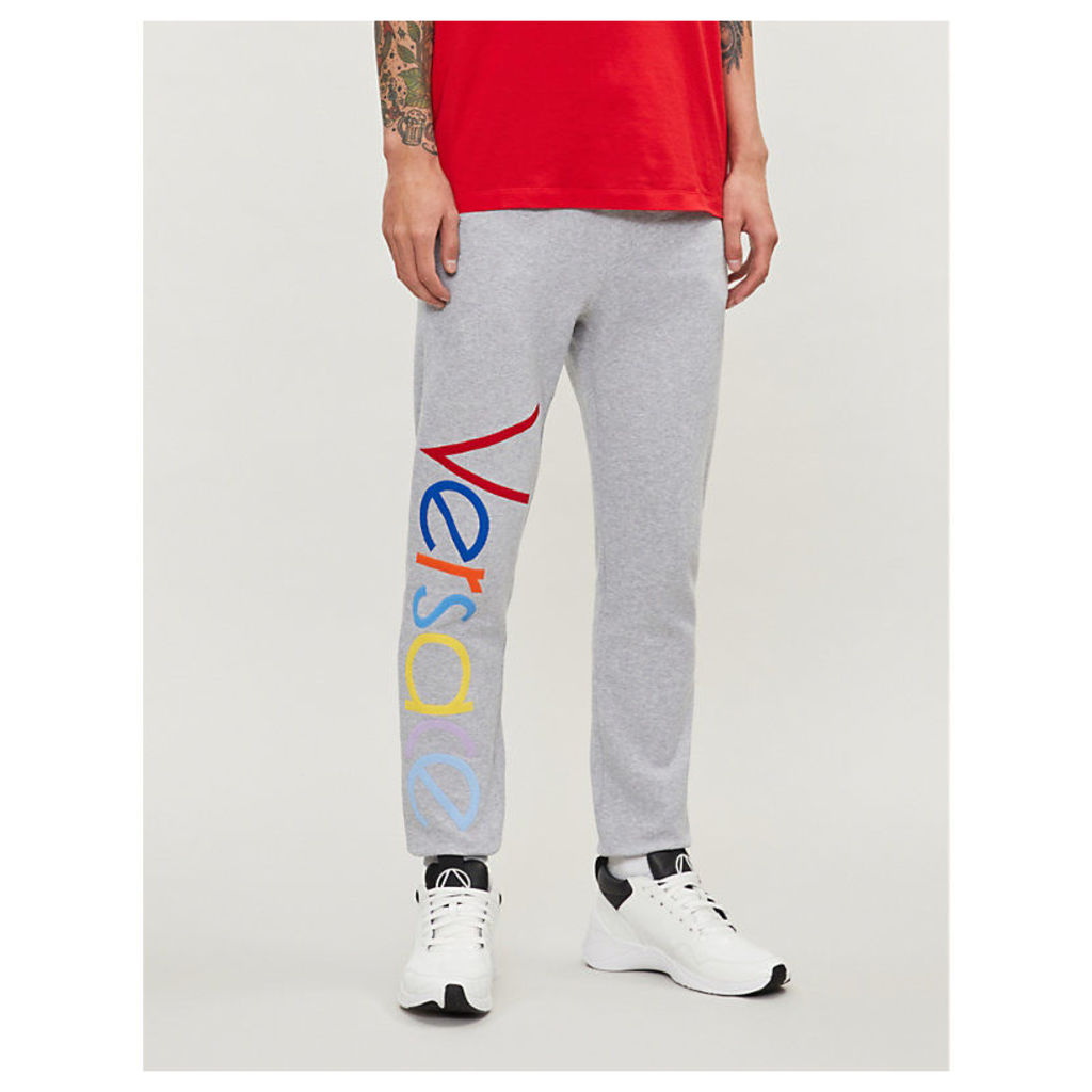 Logo-print tapered cotton-jersey jogging bottoms