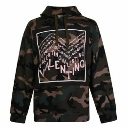 Valentino Camouflage Hooded Sweatshirt
