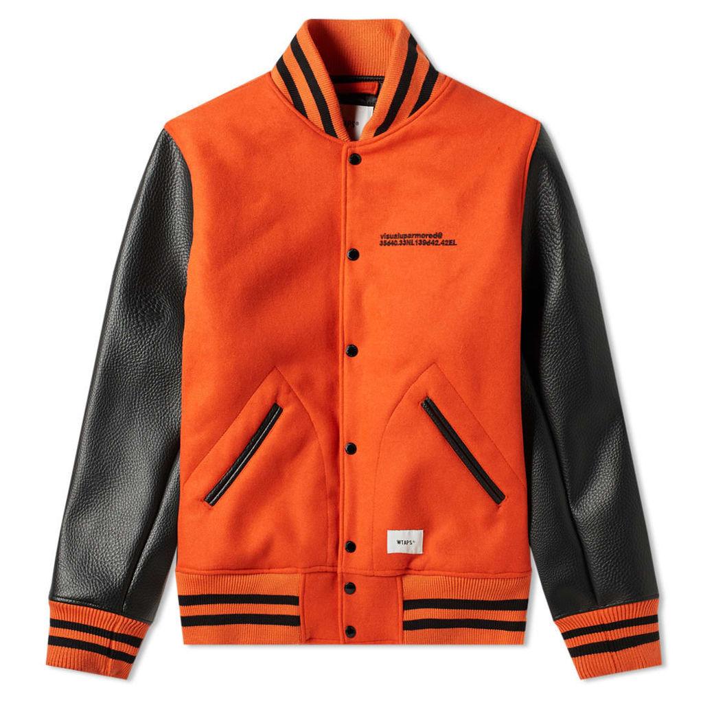 WTAPS Club Melton Jacket Orange