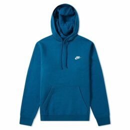 Nike Club Pullover Hoody Blue Force & White