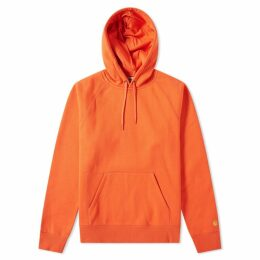 Carhartt Hooded Chase Sweat Pepper & Gold