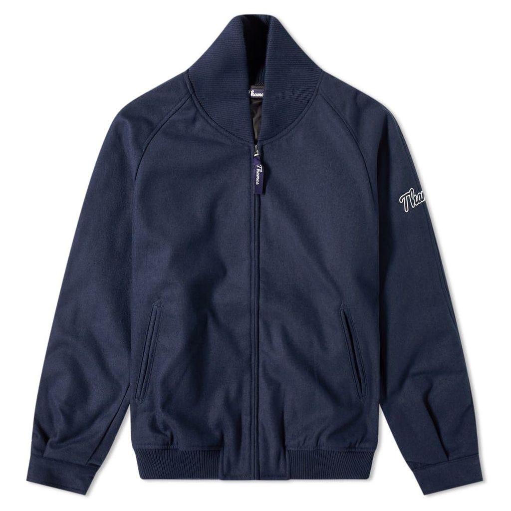 Thames Bedford Varsity Jacket Blue Check
