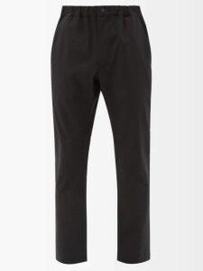 Etro - Slim Leg Linen Trousers - Mens - Blue