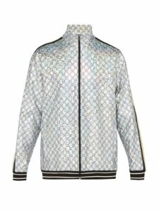 Gucci - Gg Stretch Jersey Track Jacket - Mens - Silver