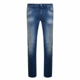 Jacob Cohen Blue Badge Jeans