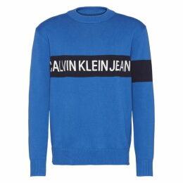 Calvin Klein Jeans Institutional Embroidered Crew Sweatshirt