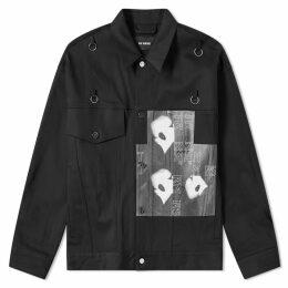 Raf Simons Bold Head Denim Jacket Black