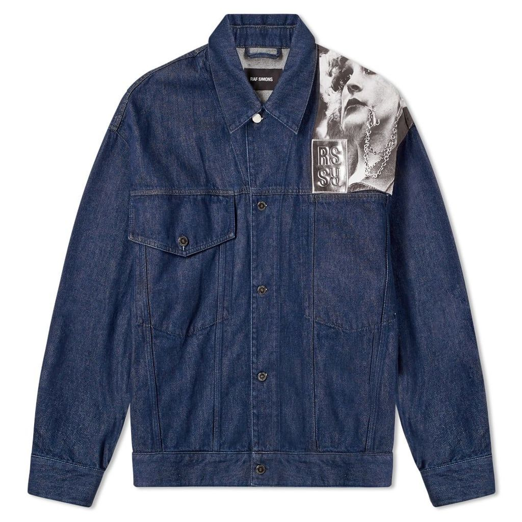 Raf Simons Punkette Denim Jacket Dark Navy
