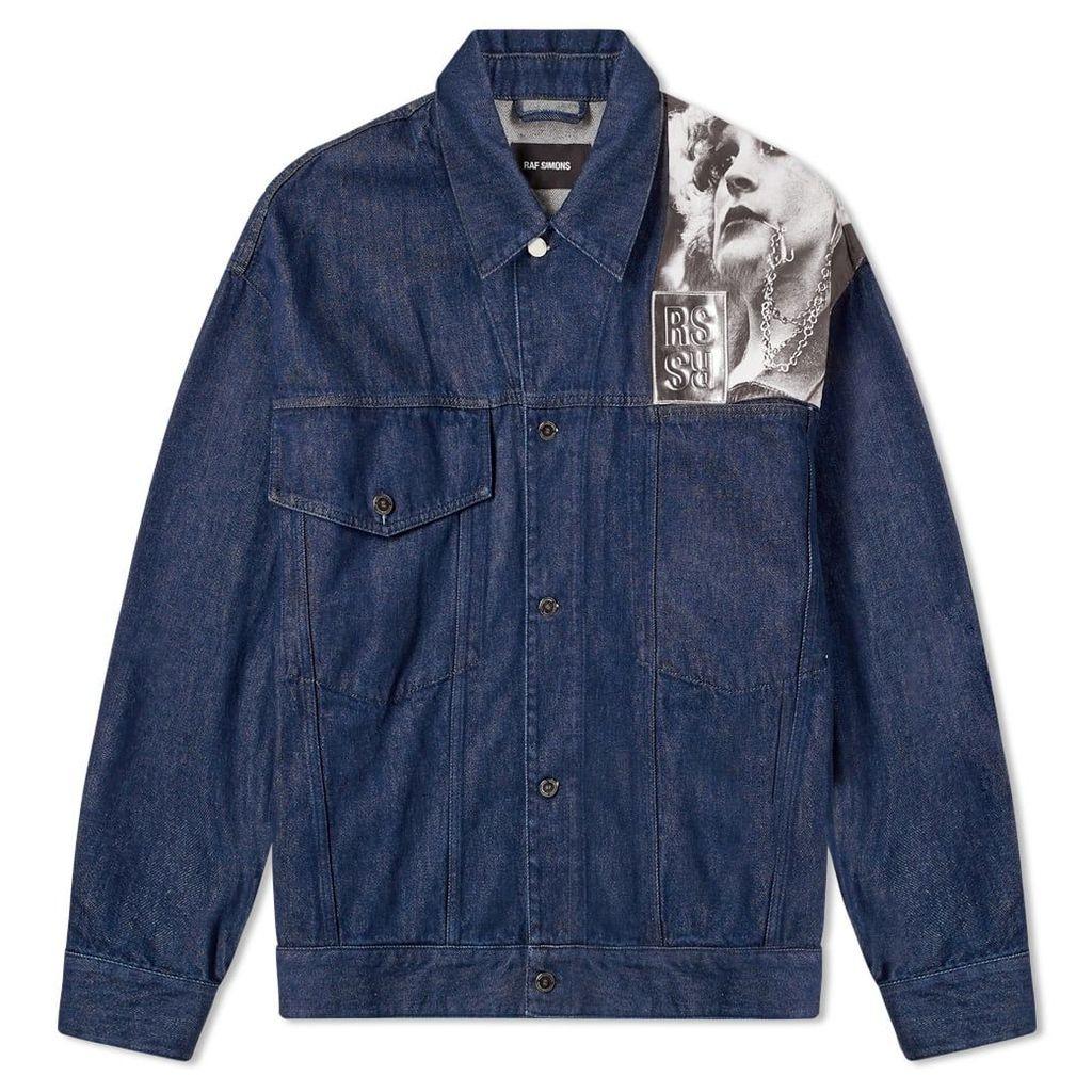 Raf Simons Punkette Denim Jacket Dark Navy