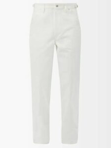 Vetements - Logo Print Cotton Track Pants - Mens - Light Green