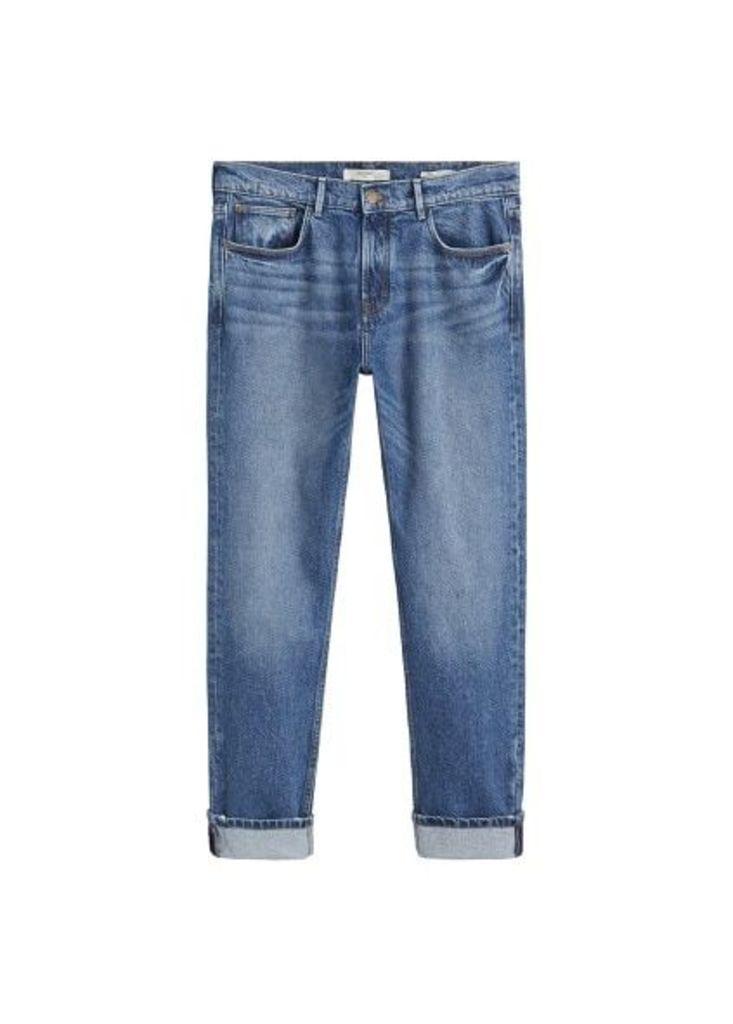 Regular-fit dark vintage wash Bob jeans