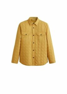 Check structured quilted jacket