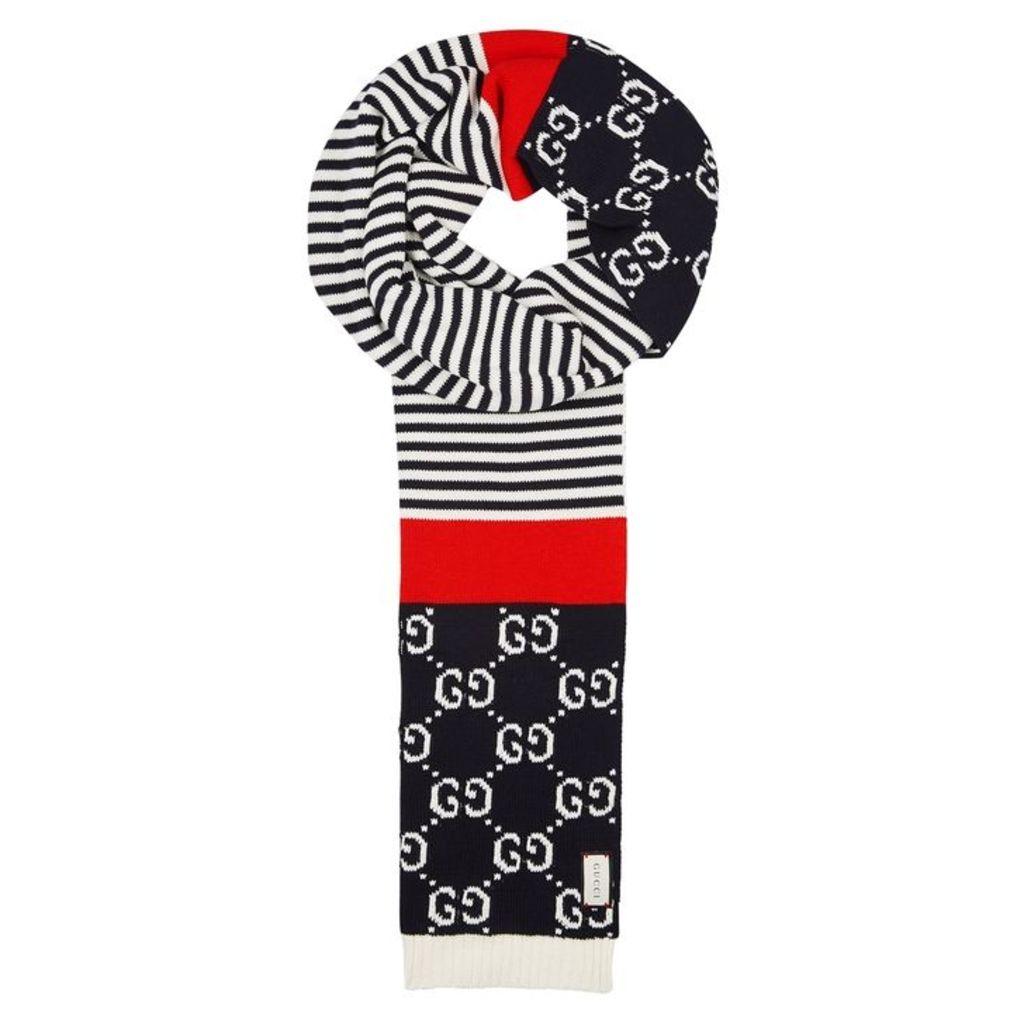 Gucci Striped Cotton Scarf