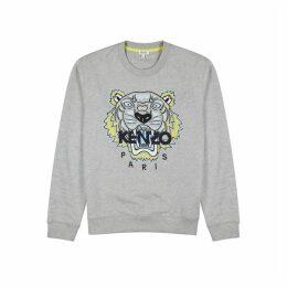 Kenzo Icon Grey Tiger-embroidered Sweatshirt