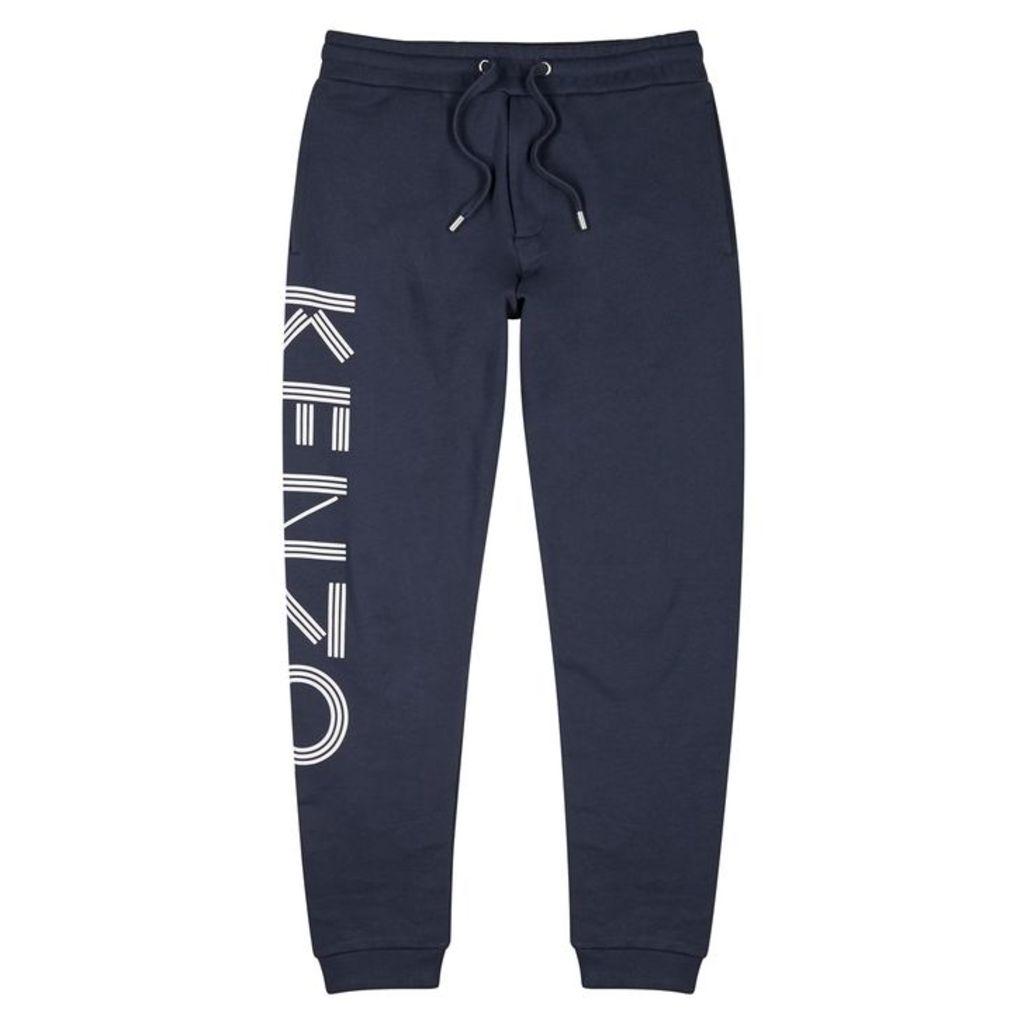 Kenzo Navy Logo-print Cotton Sweatpants